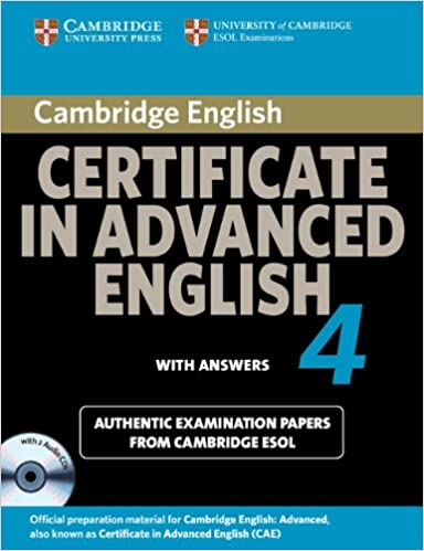 Buy Cambridge Certificate In Advanced English 4 For Updated Exam Self Study Pack Students Book With Answers And Audio CDs 2 Official Examination