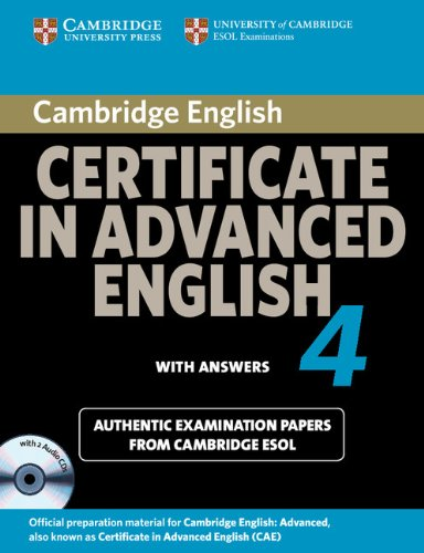 Cambridge Certificate in Advanced English 4 for Updated Exam Self ...