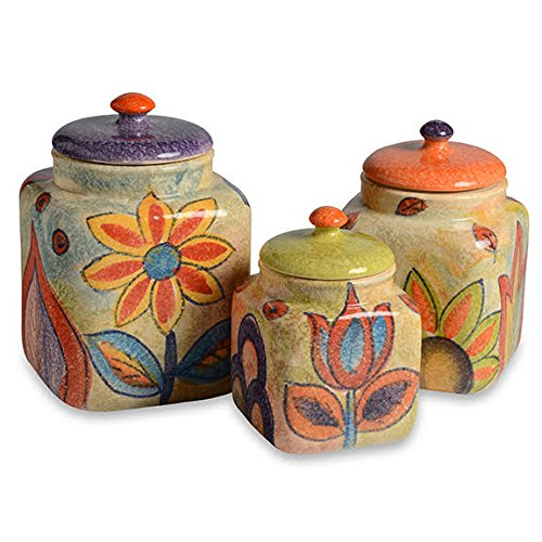 Italian Dinnerware - Canister Set - Handmade in Italy from our Roma Amor Collection