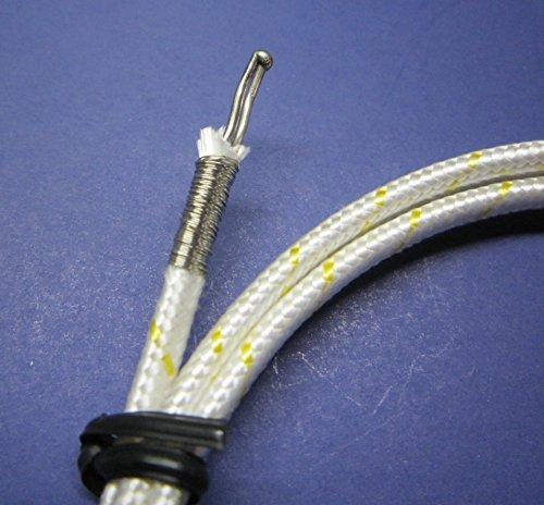 K-Type Thermocouple PK-1000 Temperature Sensor Probe w. High Temperature Fiber Insulation 1832F or 1000C (Set of 2) by www.meter-depot.com (Image #1)