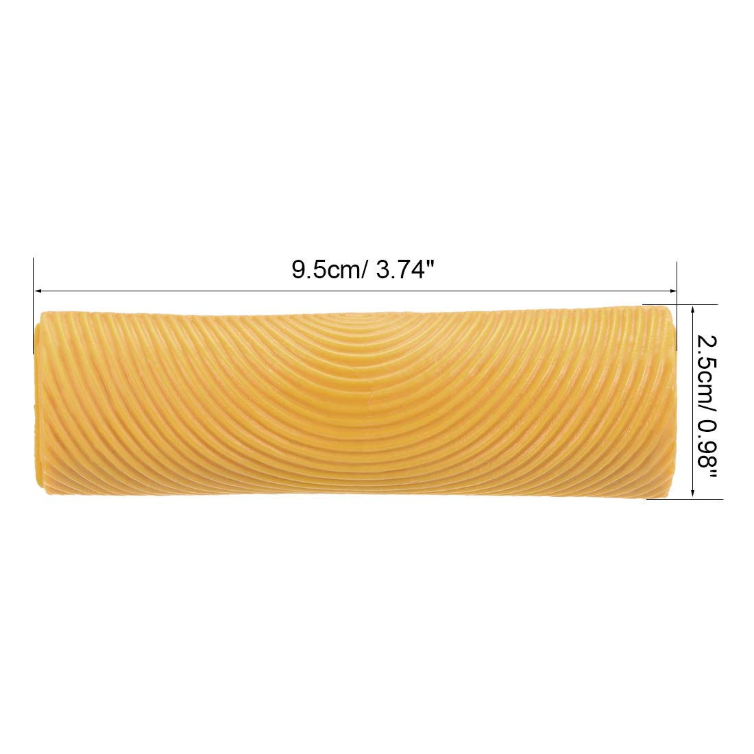 sourcing map Grabador de dise/ño de vetas de madera de 5 de madera de grano de caucho granulado amarillo para pintura de paredes modelo MS25