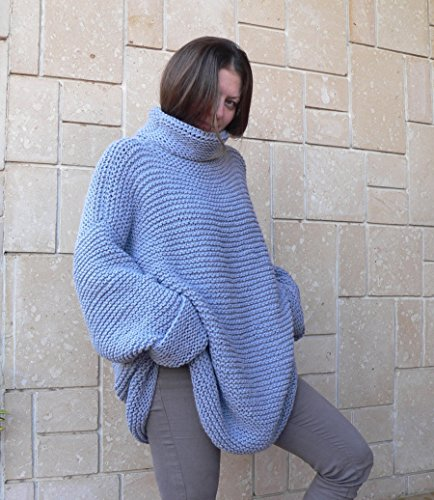 Blue jeans handknit sweater by PassionMK