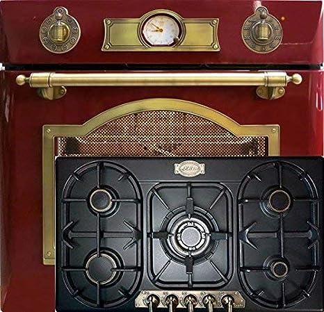 Autark Kaiser Empire/Horno eléctrico EH 6355 RotEm 67L en rojo + ...