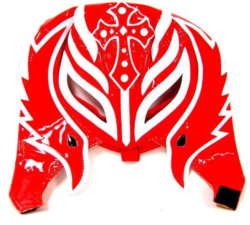 REY MYSTERIO (RED & WHITE HALF MASK) - WWE KID SIZED REPLICA WRESTLING MASK (Kids Wwe For Rey Mysterio Mask)