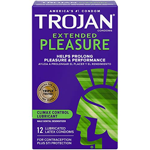 Trojan Extended Climax Control Condoms with Delay Lubricant