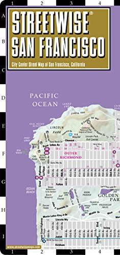 Streetwise San Francisco Map - Laminated City Center Street Map of San Francisco, California - Folding pocket size travel map with BART map, MUNI lines, bus ()
