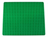 """Strictly Briks Classic Big Briks Baseplate 100% Compatible with All Major Brands   Large Pegs for Toddlers   13.75"""" x 16.25"""" Building Brick   Tight Fit Stackable Base Plate   Green"""
