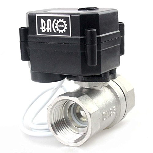 BACOENG 1'' DC12V SS304 Motorised Ball Valve 2 Port ,Electrical Ball Valve CR02 NPT by BACOENG