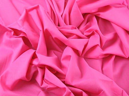 Tela de gasa de algodón lisa vestidos rosa brillante – por metro ...
