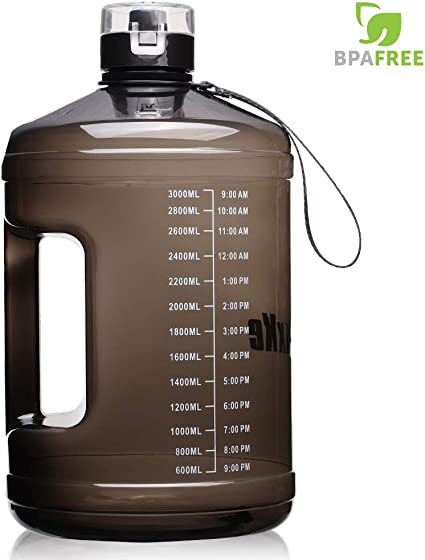 1 Gallon Water Bottle Motivational With Timer Maker BPA Free Fitness Workout Gym