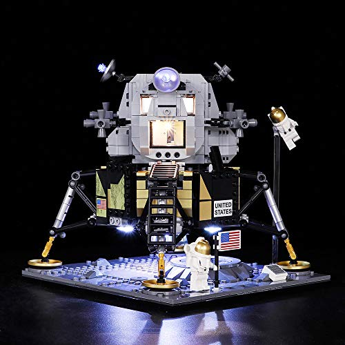 Vonado LED Light Kit for Lego 10266 NASA Apollo 11 Lunar Lander Lighting Set Building Blocks Toys Christmas Halloween Festival Gift(Only Light+Battery ()