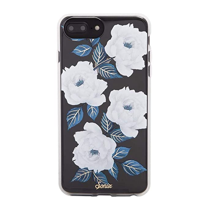 sports shoes 732fe b6910 Sonix Sapphire Bloom (white, blue flowers) Cell Phone Case [Military Drop  Test Certified] Protective Clear Case for Apple (5.5