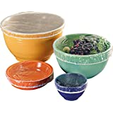 Stretchable, Reusable, Plastic Bowl Covers. Ideal For Storage, Picnics, Transportation, and Entertaining