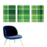 Checkered,Decals Old Fashioned Irish British Tile Mosaic in Vibrant Green Colors Wall Decals for Bedroom Emerald Lime Green White W16 x L32