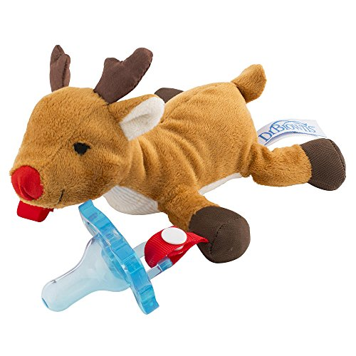 Dr. Brown's Lovey Pacifier and Teether Holder - Reindeer