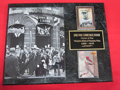 Philadelphia Phillies Connie Mack Stadium - J & C Baseball Clubhouse Phillies Shibe Park Connie Mack Stadium 2 Card Collector Plaque #2 w/8x10 Photo