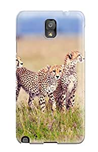 NikVzhA7175niedt Cheetah Family Nature Freedom Grass Blue Sky Animal Other Fashion Tpu Note 3 Case Cover For Galaxy