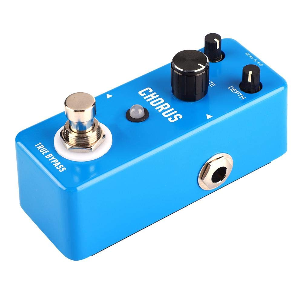 Guitar Effect Pedal, Professional Multi-Effects Pedal Processor or Mini Metal Shell Analog Chorus Guitar Effect Pedal with True Bypass Fits for most Guitar and Amplifier