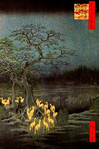 Utagawa Hiroshige New Years Eve Foxfires at The Changing Tree Art Mural Giant Poster 36x54 inch