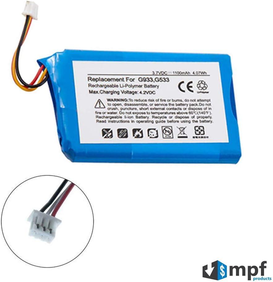bateria para Logitech G533 G933 Artemis Spectrum 533-000132