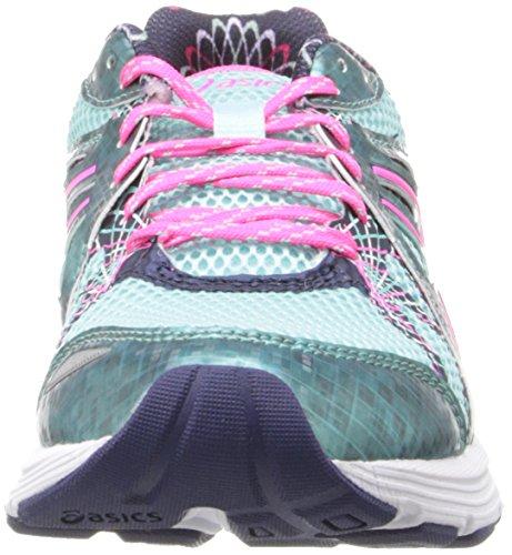 Asics Womens Gel-Preleus Running Shoe Ice Blue/Hot Pink/Navy