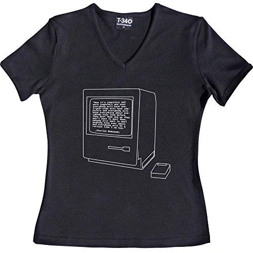 T34 - Camiseta - para mujer V-Neck Black Women's T-Shirt