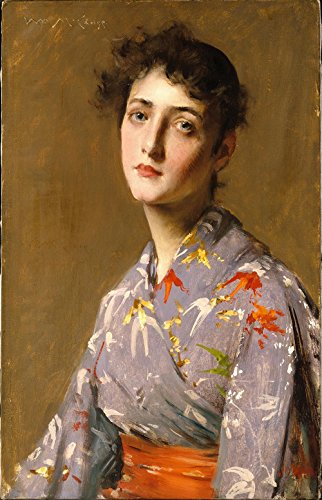 The Museum Outlet - William Merritt Chase - Girl in a Japanese Costume - Poster Print Online Buy (30 X 40 Inch) ()
