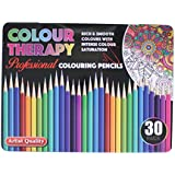 30pc Asst Colour Therapy Coloured Pencil Professional School Class Kids /