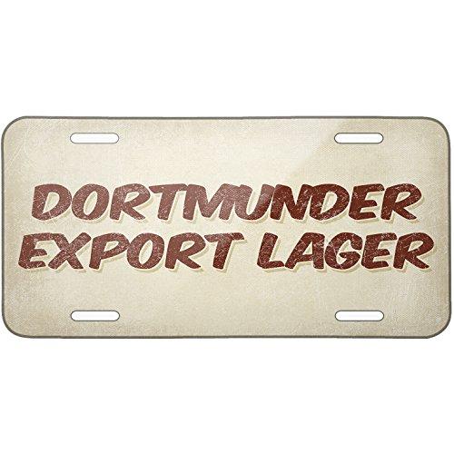 Metal License Plate Dortmunder Export Lager Beer, Vintage style - Neonblond
