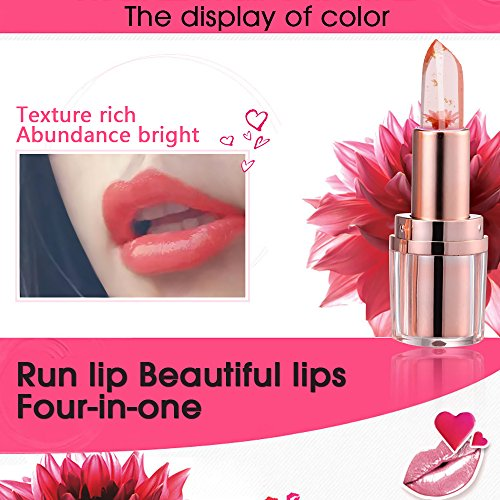 PrettyDiva Jelly Flower Lipstick Barbie Pink Mood Color Changing Lipstick Moisturizer Lip Balm