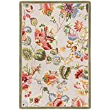 Safavieh Chelsea Collection HK331C Hand-Hooked Sage Premium Wool Area Rug (5'3' x 8'3')