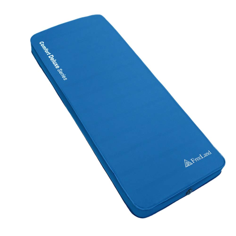FreeLand 3D Self Inflating Camping Sleeping Pad with 4 Inches Thickness for Travel, Car Camping and Tent, Blue Color by FreeLand