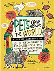 PETS from around the WORLD Coloring + Activity Book: Jokes, Mazes, Secret Codes, Puzzles, Mystery Dot-to-Dot & MORE! (Caravan Coloring + Activity Books)
