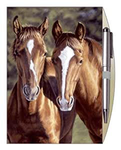 Legacy Lined Journal with Pen, Two Horses (LJO8977)
