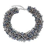 KAYMEN FASHION JEWELLERY Kaymen Jewelry Handmade Crystals Chunky Statement Bib Necklace Bohemian Style