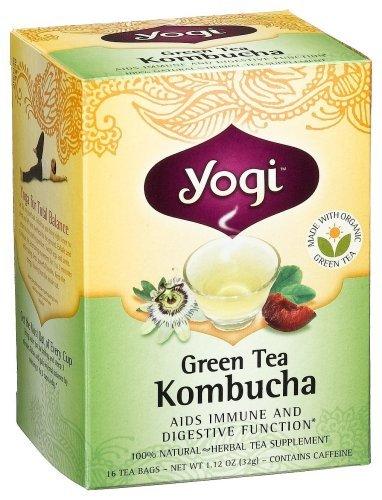 Yogi Kombucha Green Tea, 16 Tea Bags,1.12oz (Pack of 6) Size: 1 Model: 245021-02 (Home & Kitchen)