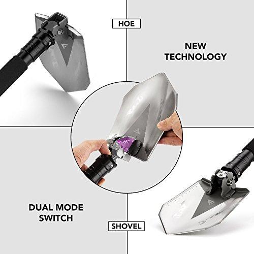 FiveJoy Military Folding Shovel Multitool (RS) - Compact Multi-Purpose Tool for Tasks Around Camp or to Keep in Vehicle for Emergency - Essential for Every Camper, RV Owner, Survivalist and Prepper by FiveJoy (Image #3)