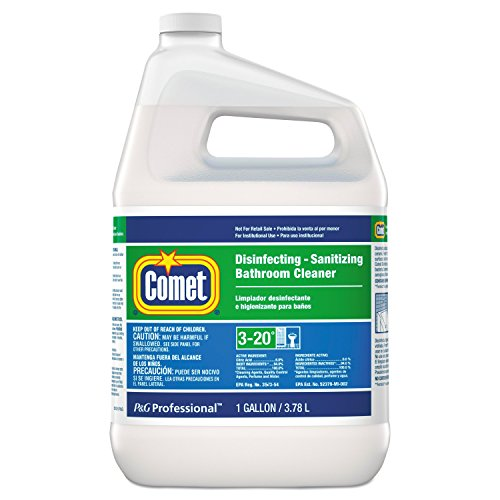 Comet 22570Ct Disinfecting Sanitizing Bathroom Cleaner  One Gallon Bottle  Case Of 3