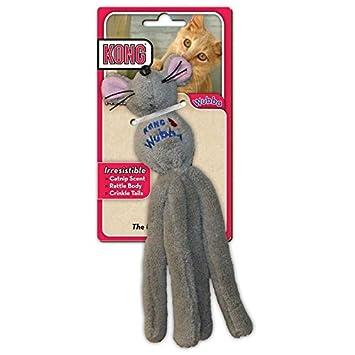 Juguete para gatos con diseño de ratón, colores surtidos, de la marca KONG Wubba: Amazon.es: Productos para mascotas