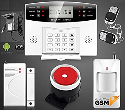 Kit alarma inalámbrica GSM para hogar casa o negocio App IOS ...