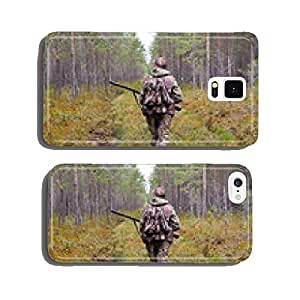 hunter walking on the forest road cell phone cover case Samsung S6