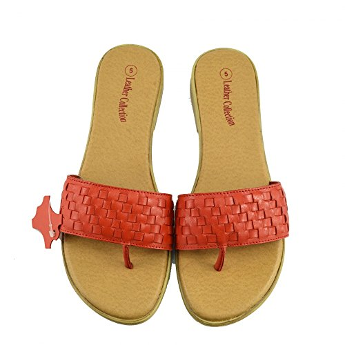Sandales Summer Chaussures Red Femme naturel F931 Beach Kick Chaussures Fashion cuir en Tongs aPxIwYn