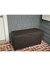 Patio Box Storage Deck Outdoor Garden Bench Pool Furniture Gallon Container  New Suncast Resin Seat Yard