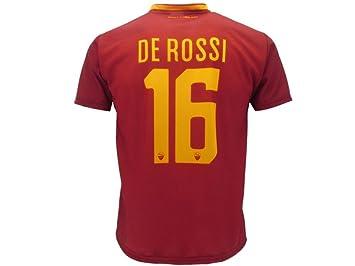 Camiseta De Rossi oficial AS Roma 2018. Réplica autorizada. Daniele De Rossi, número 16: Amazon.es: Deportes y aire libre