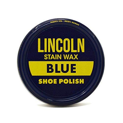 Lincoln Stain Wax Shoe Polish 2 1/8 oz (Blue)