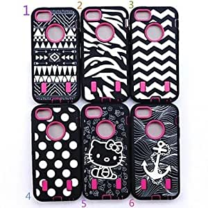 Heavy Duty Case Cover Full Body for iPhone 5 5S , 3
