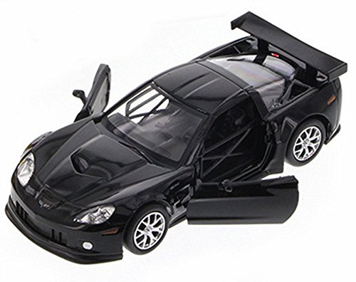 Chevy Corvette C6-R, Black - Uni-Fortune 555003Z - 1/32 Scale Diecast Collectible Model Toy Car (Brand New, but NO BOX) (C6 Diecast Car Model)