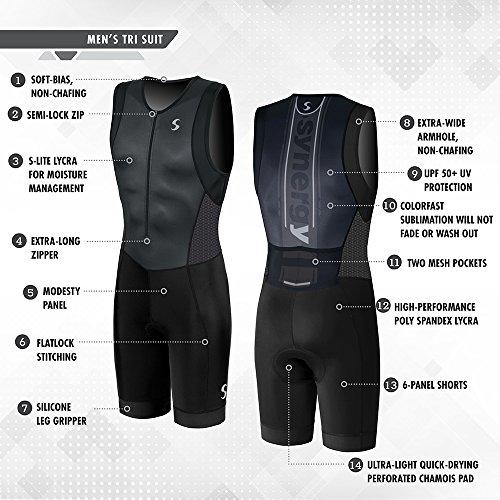 Synergy Men's Triathlon Trisuit (Black/Black, Medium) by Synergy (Image #2)