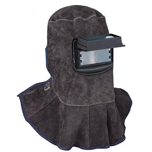 TOOLTOO Leather Welding Hood - 3 in 1 Welding Helmet Face Mask (Leather Welding Helmet)