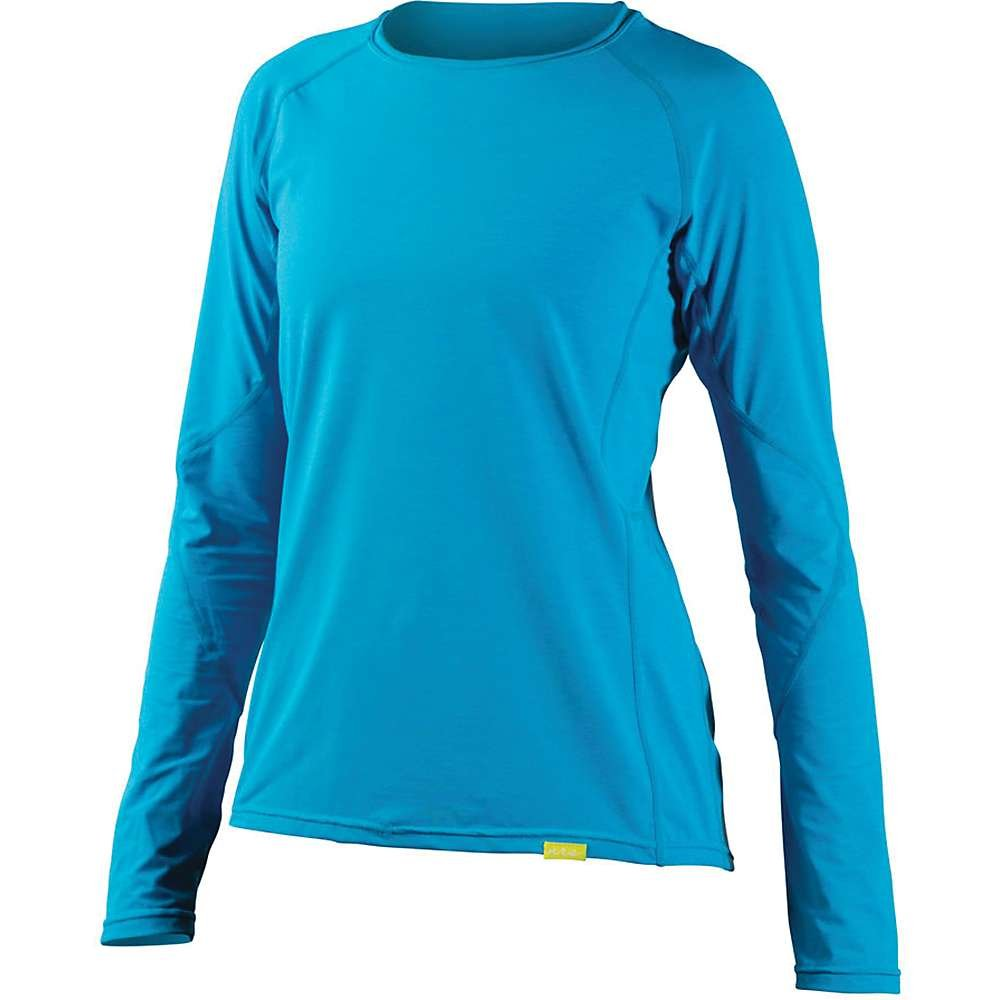 NRS H2Core Silkweight LS Shirt - Women's Azure Blue Heather XS by NRS